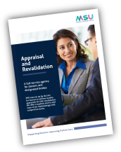 Download a copy of the MSU Appraisal and Revalidation Flyer
